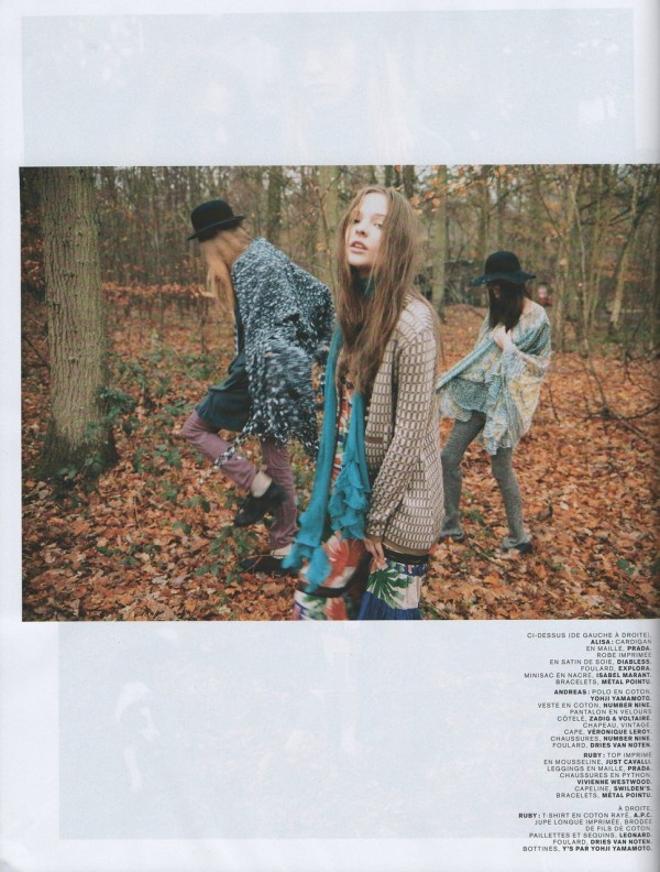 Ruby, Alisa, Alexandre, Andreas and Simon by Edouard Plongeon  Jalouse February 2008 fashion editorial