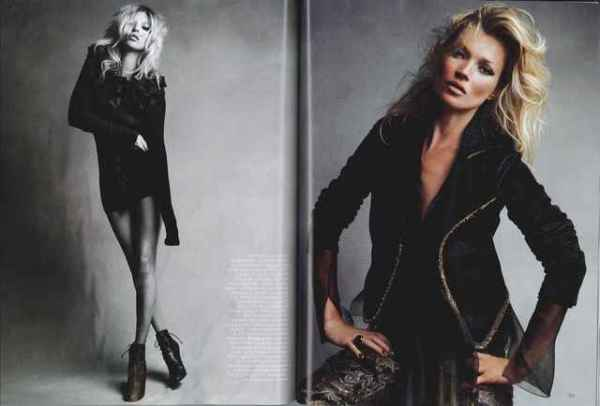 Kate Moss by Patrick Demarchelier  UK Vogue September 2010 fashion editorial
