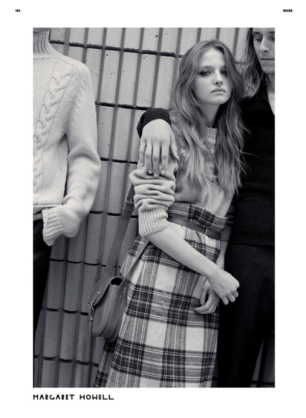 Amanda Norgaard by Max Farago Dazed & Confused September 2010 margaret howell winter fashion collection
