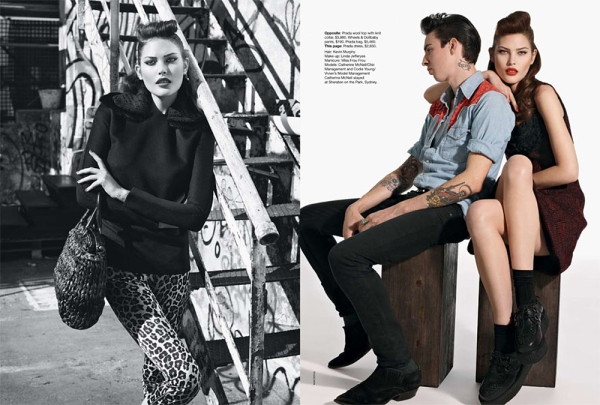 Catherine Mcneil & Codie Young by Max Doyle  Vogue Australia September 2010