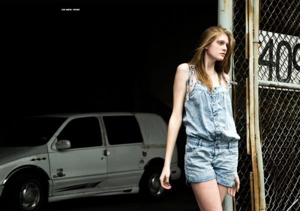 Paranoid solitude fashion editorial denim