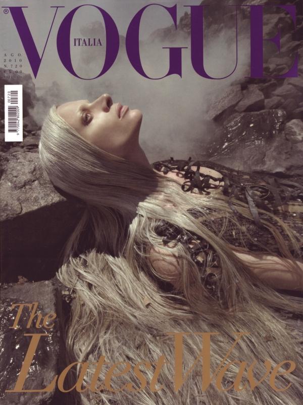 Kristen McMenamy by Steven Meisel Vogue Italia August 2010