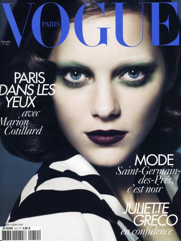 Marion Cotillard by Mert Alas & Marcus Piggott Vogue Paris September 2010