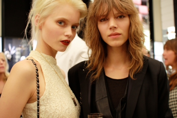 Abbey Lee Kershaw and Freja Beha Erichsen models, Chanel, fashion