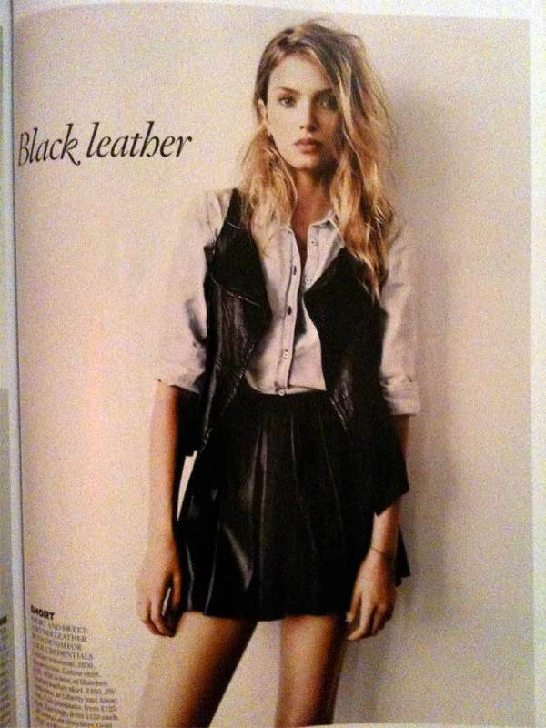 Lily Donaldson by Paul Wetherall UK Vogue October 2010, black leather, fashion trends