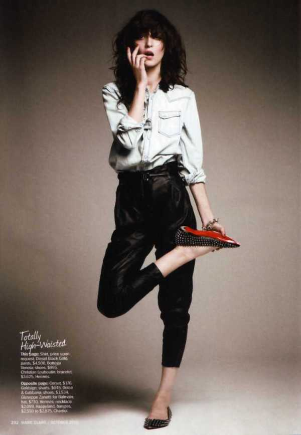 Irina Lazareanu by James Macari Marie Claire US, October 2010