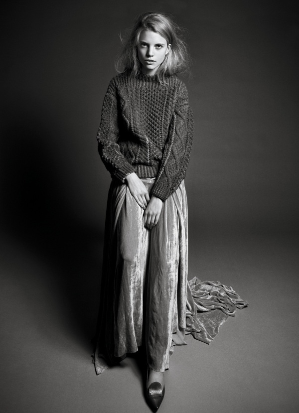 Marc Jacobs cashmere & wool jumper, interview september 2010, fashion trends winter 2010, maxi skirts,