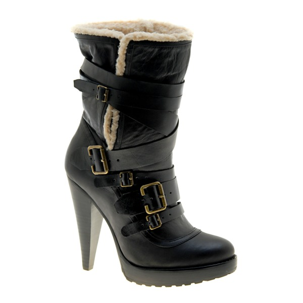 Aldo Winter 2010 Collection black griem boots, burberry shearling boots, fashion trends