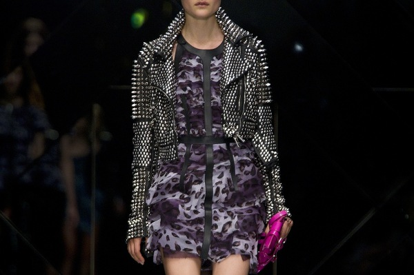 Burberry Prorsum Spring/Summer 2011, studded leather jacket, fashion,
