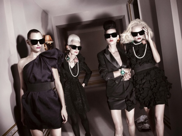 Natasha Poly & Hannelore Knuts by David Sims  Lanvin for H&M Fall 2010 Campaign Preview