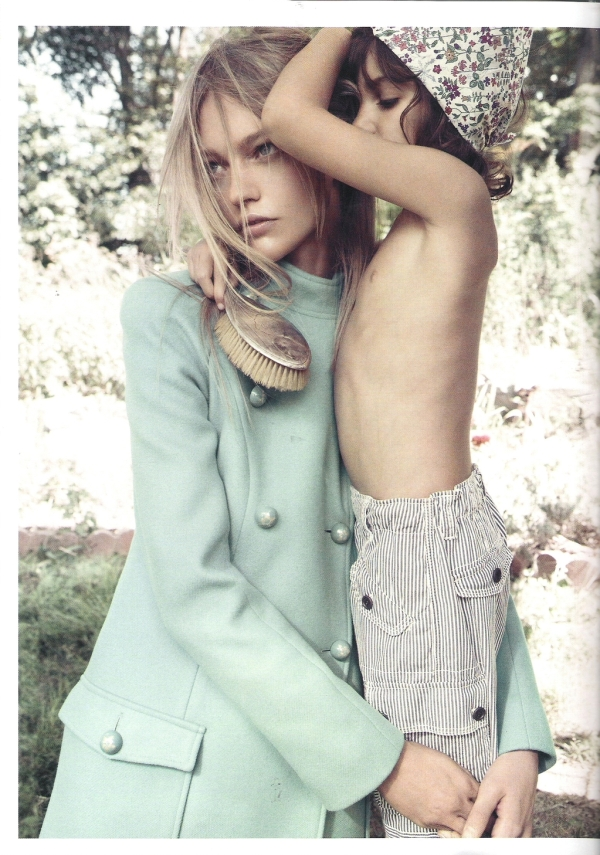 Sasha Pivovarova by Mikael Jansson  Vogue Paris November 2010 fashion editorial