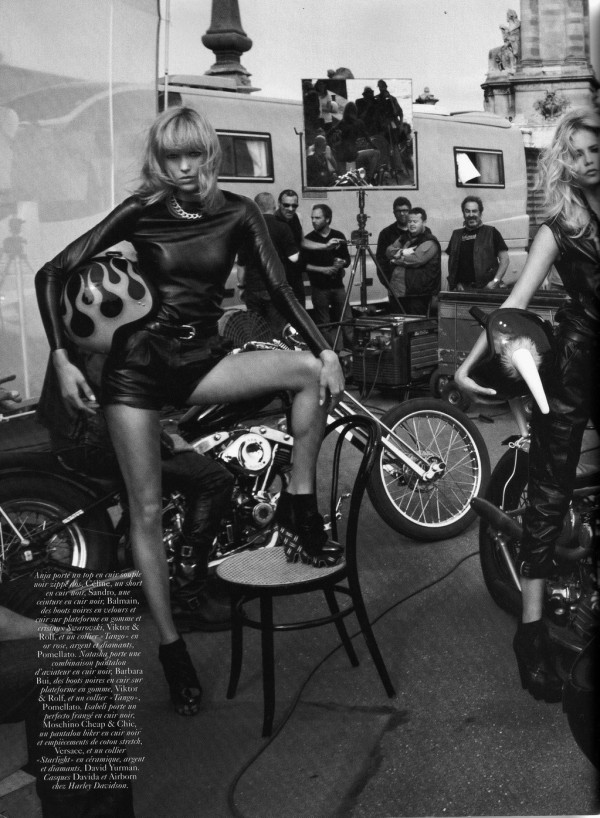 Anja Rubik, Isabeli Fontana and Natasha Poly  styled by Emmanuelle Alt.  Photographed by Inez and Vinoodh  Vogue Paris October 2010