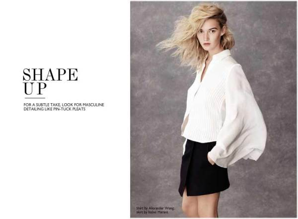 Alexander Wang pleated white caped shirt, fashion trends