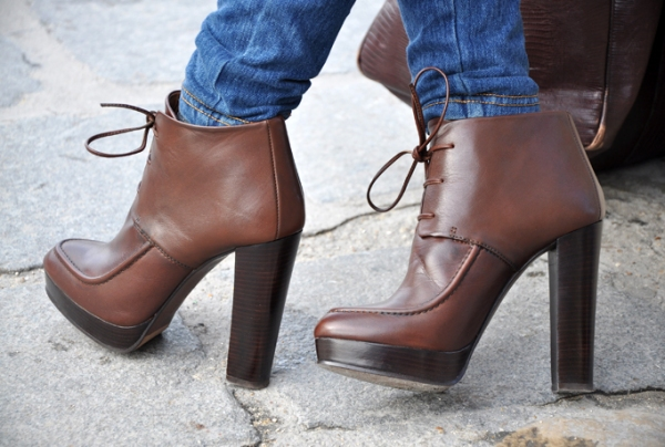 Zara ankle boots with laces in brown £79.99 autumn winter 2010 collection intrigue me now