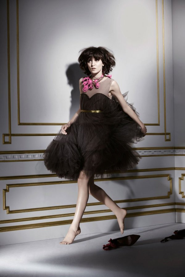 Irina Lazareanu for Lanvin for H&M Fall 2010