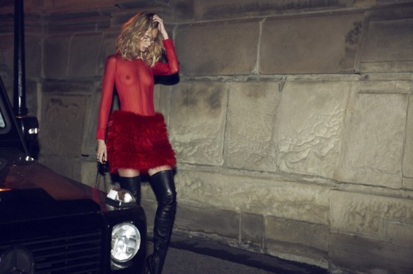 model Tiiu Kuik by Max Abadian for Flare December 2010 fashion editorial, thigh high boots,