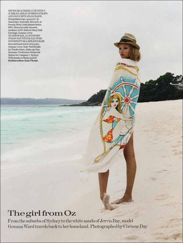 Gemma Ward by Corinne Day  Vogue July 2006 fashion editorial