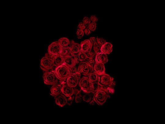 Alexander James - Drowning in brands artwork photography apple logo image