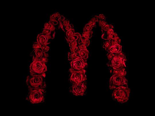 Alexander James - Drowning in brands macdonalds logo image photography artwork roses
