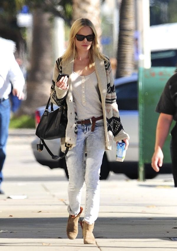 kate bosworth chunky knit cardigan celebrity style topshop
