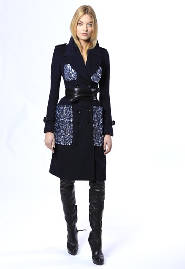 Burberry Prorsum Pre-Fall 2011 fashion collection obi belt