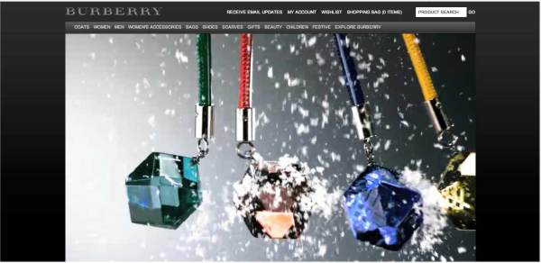 burberry online, Digital innovation Award, british fashion awards, burberry screen grab