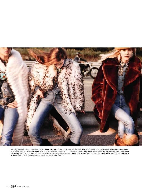 models Pamela Bernier, Lauren Brown, Elena Lazic, Lindsay White, Tabea Koebach, and Simon Nessman by Kt Auleta Styled by Kate Lanphear for US Elle November 2010
