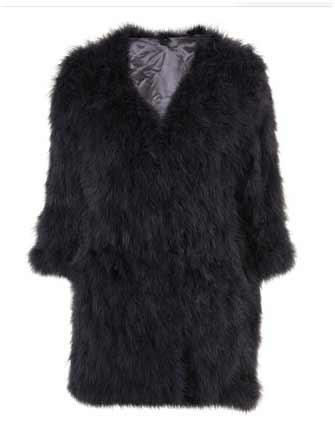 Black feather jacket topshop boutique fashion daily crave hey crazy blog