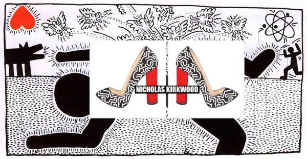 The Keith Haring by Nicholas Kirkwood, shoes, art, fashion collection,
