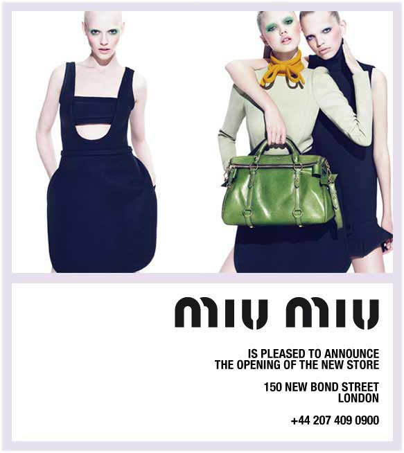 Miu Miu London: new store now open, 150 new bond street