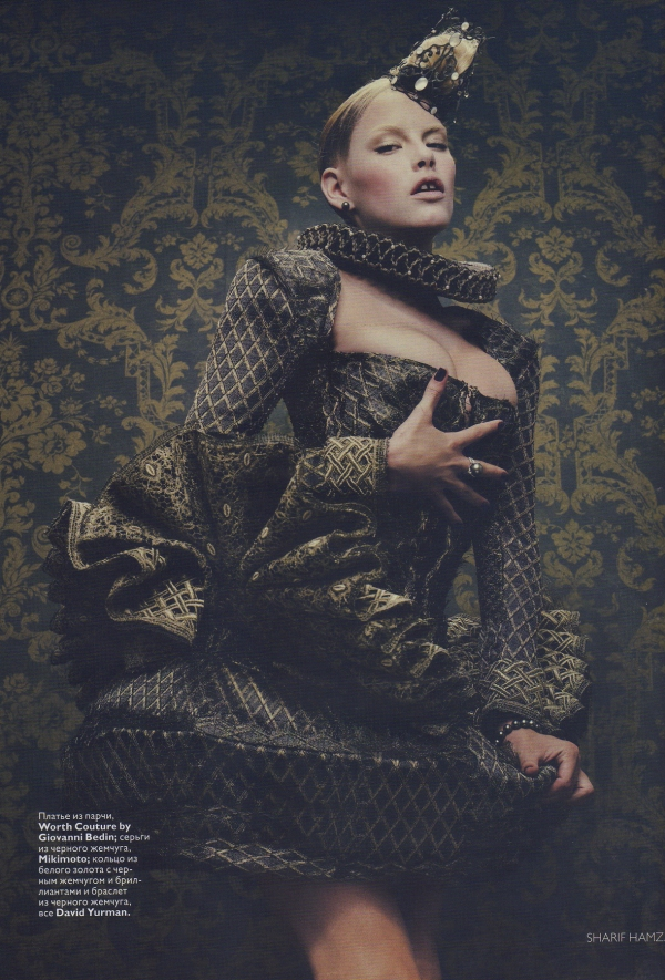Ashley Smith by Sharif Hamza Vogue Russia December 2010 fashion editorial models