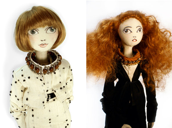 Anna Wintour Grace Coddington rag-dolls Andrew Yang Barneys New York Fashion's Night Out