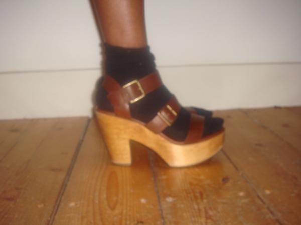 Pierre Hardy for Gap Design wooden platform clog sandals UK6