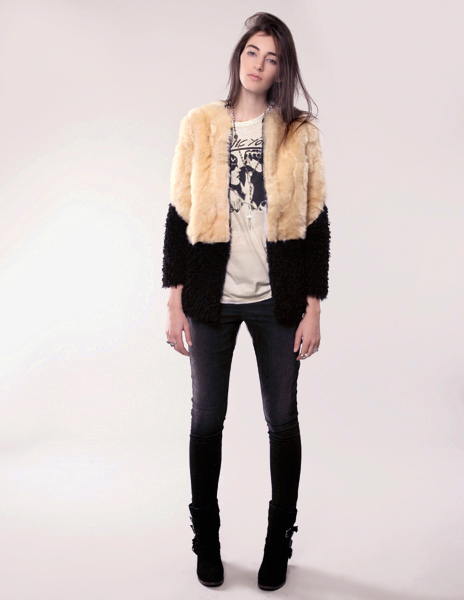 Keysoul Fur and shearling jacket pixie market