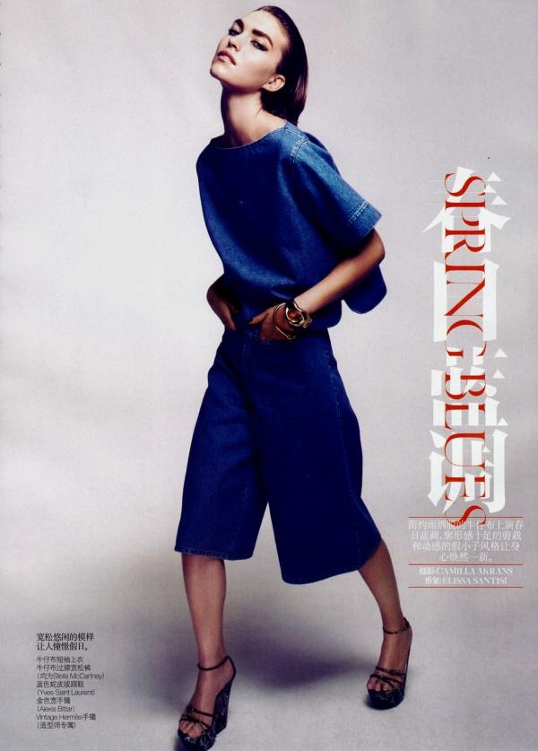 Arizona Muse by Camilla Akrans Vogue China February 2011 fashion editorial