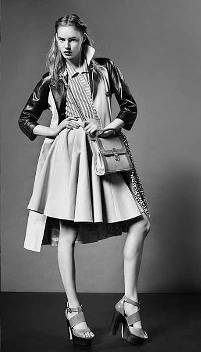 Topshop Trench Coat with Leather detail, burberry, spring summer 2011