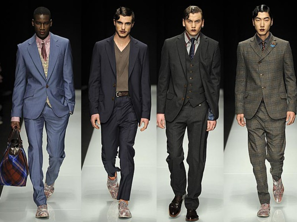 Vivienne Westwood Fall/Winter 2011 Collection, men in lipstick, men in makeup,