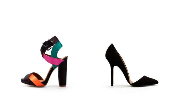 Zara  Wide heeled satin sandal & Asymmetric court shoe , spring summer 2011 collection