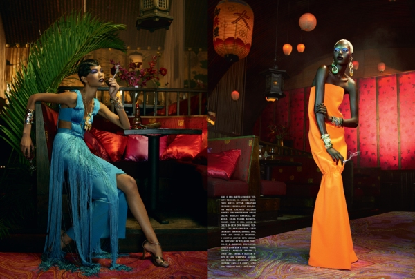 Jourdan Dunn, Sessilee Lopez, Lais Ribeiro, Rose Cordero, Ajak Deng, Melodie Monrose, Arlenis Sosa Peña,  Chanel Iman, Georgie Baddiel, Mia Aminata Niaria  Photographed by Emma Summerton and styled by Edward Enninful Vogue Italia February 2011