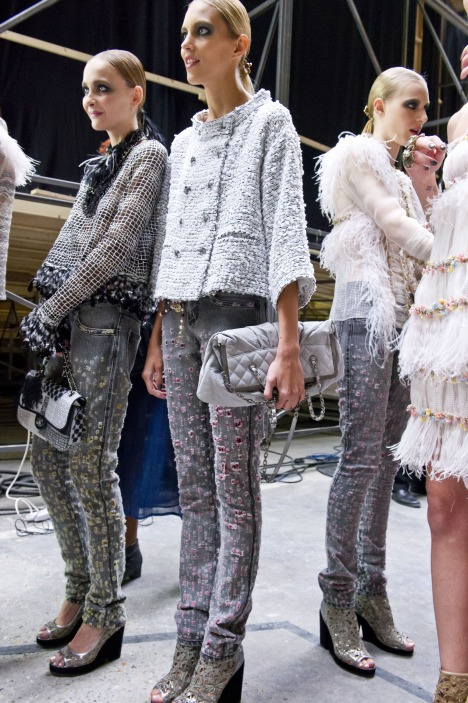 Holy jeans by Chanel S/S 2011, denim, designer denim, holey jeans, ripped jeans, distressed denim,