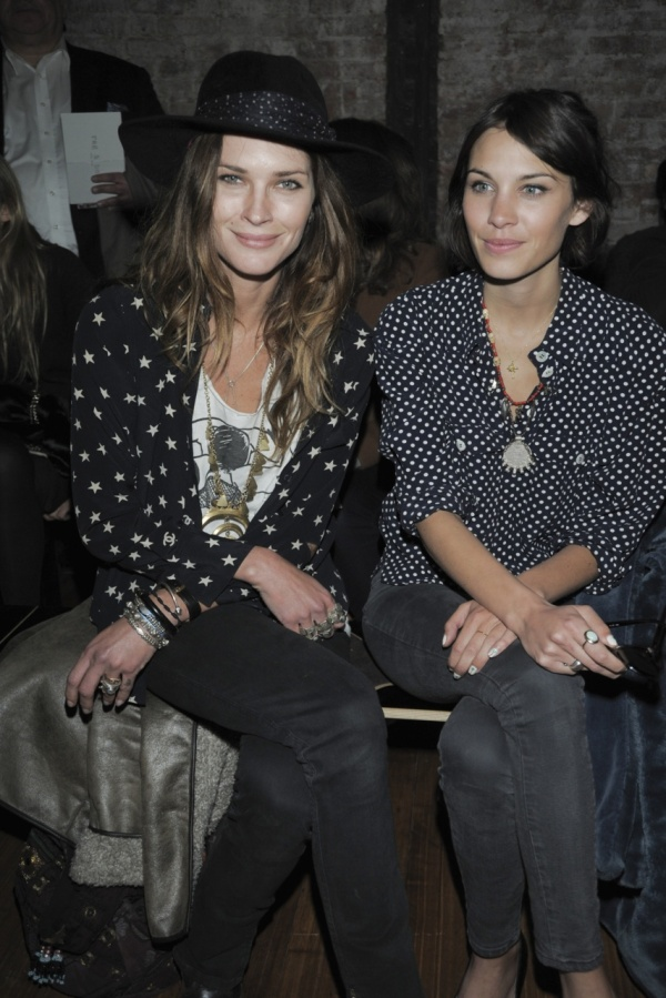 Erin Wasson and Alexa Chung front row at Rag & Bone F/W 2011-12 show