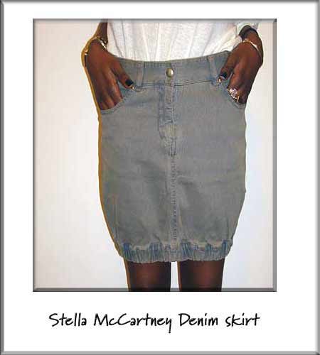 Stella MCartney grey denim mini skirt