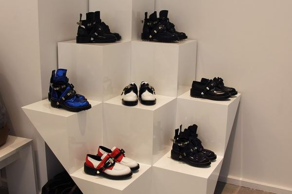 Balenciaga Spring 2011 shoe collection, cut out boots, studded biker boots