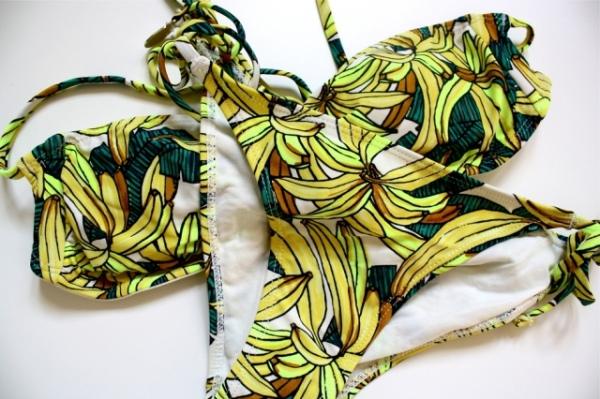 H&M banana bikini, prada spring summer 2011 banana print