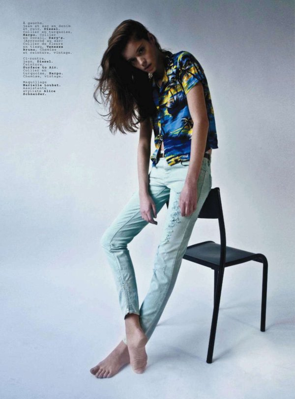 Jalouse March 2011 coloured denim fashion trend