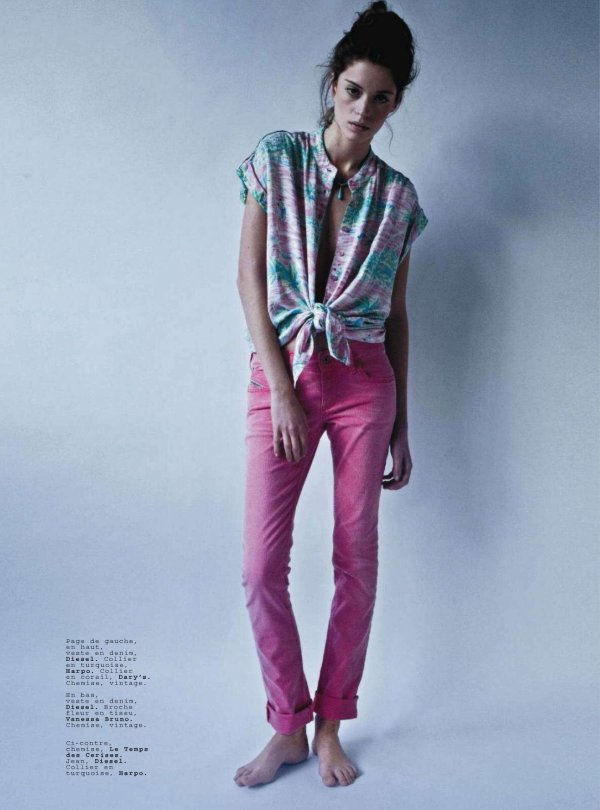 Jalouse March 2011 coloured denim fashion trends