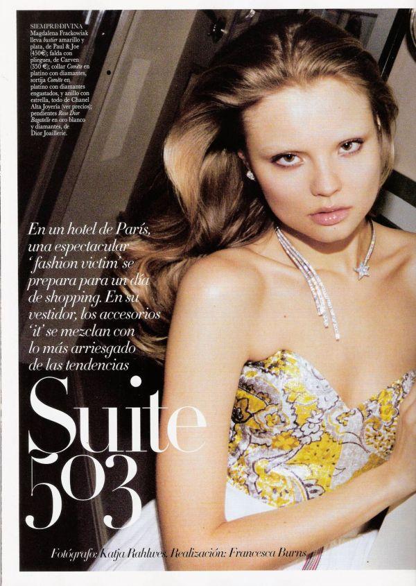 Magdalena Frackowiak by Katja Rahlwes Vogue España June 2011