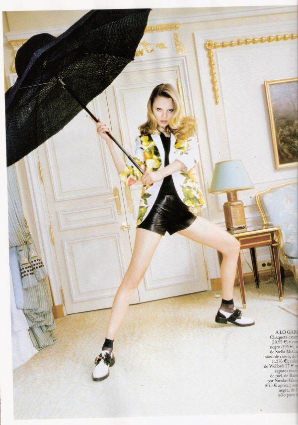 Magdalena Frackowiak by Katja Rahlwes Vogue España June 2011  stella mccartney jacket, balenciaga boots