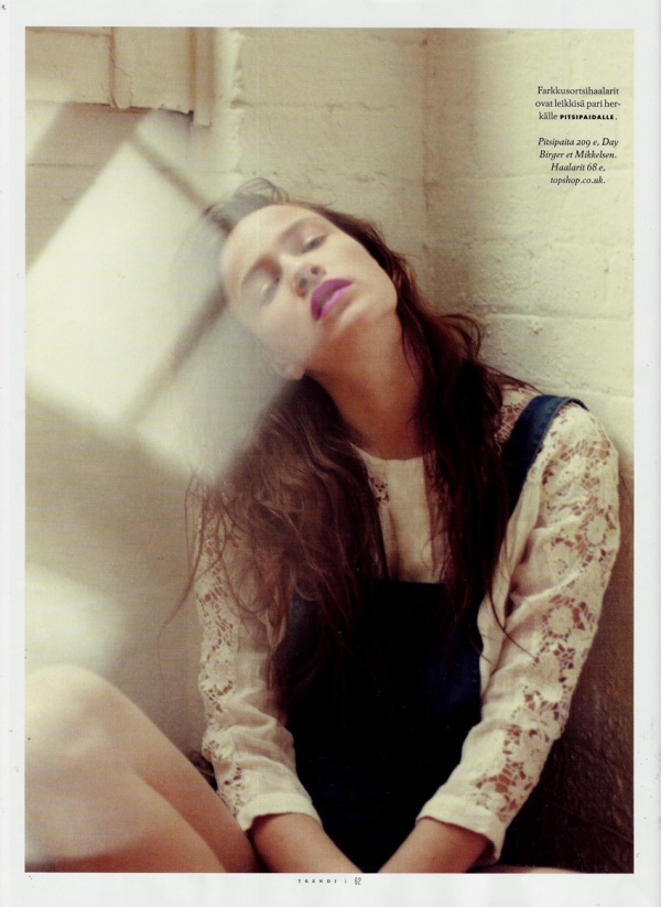 Photographed by Nicole Maria Winkler Trendi Finland June 2011 topshop dungarees