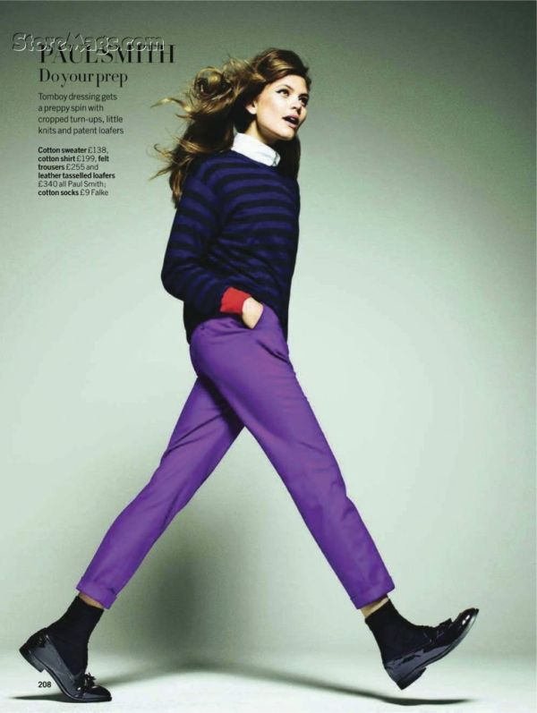 Asa by Walter Chin for Glamour UK August 2011, Paul Smith A/W 2011 collection, fashion editorial